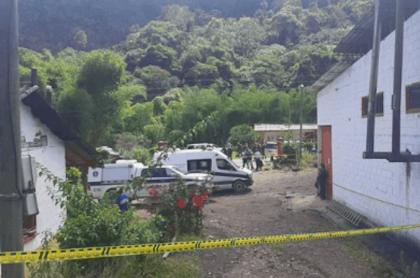 Finca cafetera donde ocurrió la masacre en Betania, Antioquia