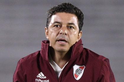 """""""Me iré según lo que considere"""": Gallardo, técnico de River. Imagen del referecnia del entrenador."""