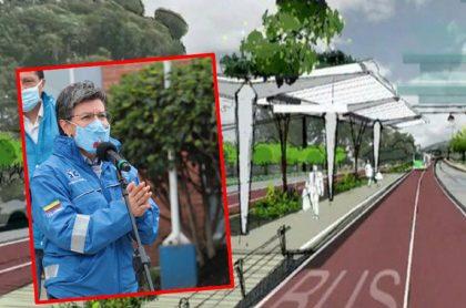 Imagen de Claudia López, alcaldesa de Bogotá, que ha sido muy criticada por su corredor verde por la Séptima.