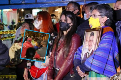 Imagen de Claudia López en el homenaje a Dilan Cruz