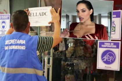 Imagen del momento en que sellan almacén en donde se presentó Andrea Valdiri, en Soledad
