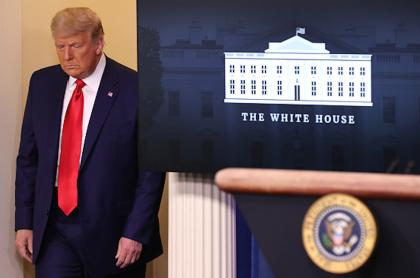 Donald Trump en la Casa Blanca.