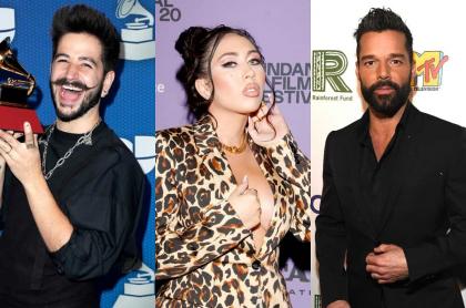 Fotomontaje de Camilo, Kali Uchis y Ricky Martin, nominados a los Grammy 2021