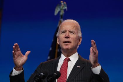 Joe Biden, presidente electo de Estados Unidos, durante la presentación de su gabinete.