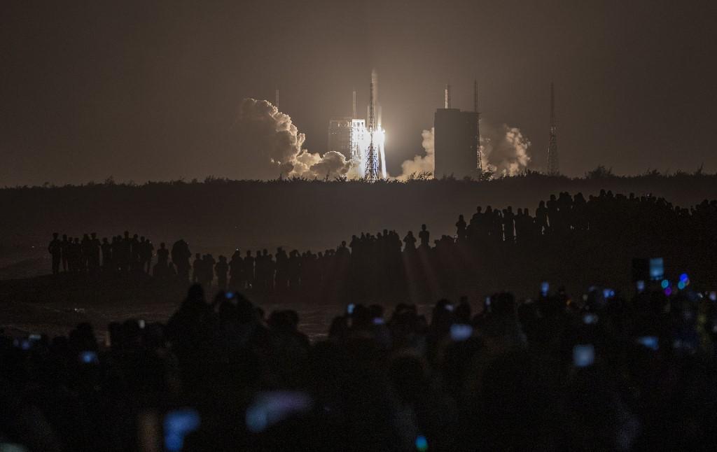 La Chang'e 5 fue llamada así por una diosa de la Luna en la mitología china / AFP.