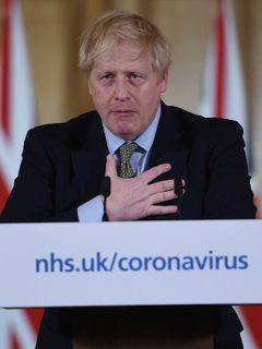 Boris Johnson se refirió a la recesión económica.