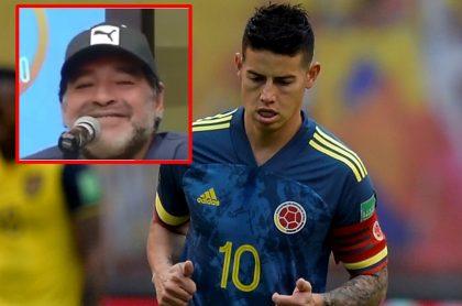 James Rodríguez, quien publicó un sentido mensaje por la muerte de Diego Maradona