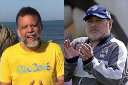Foto de Alberto Libnero Diego Maradona, a propósito del mensaje del exsacerdote.