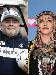 Fotomontaje de Diego Maradona y Madonna, a propósito de tendencia que los relaciona.