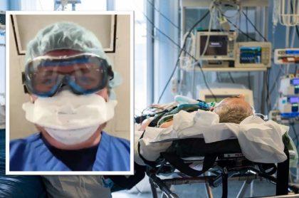 Médico recreó las últimas imágenes que ven los pacientes con COVID-19 antes de morir. (Fotomontaje de Pulzo).