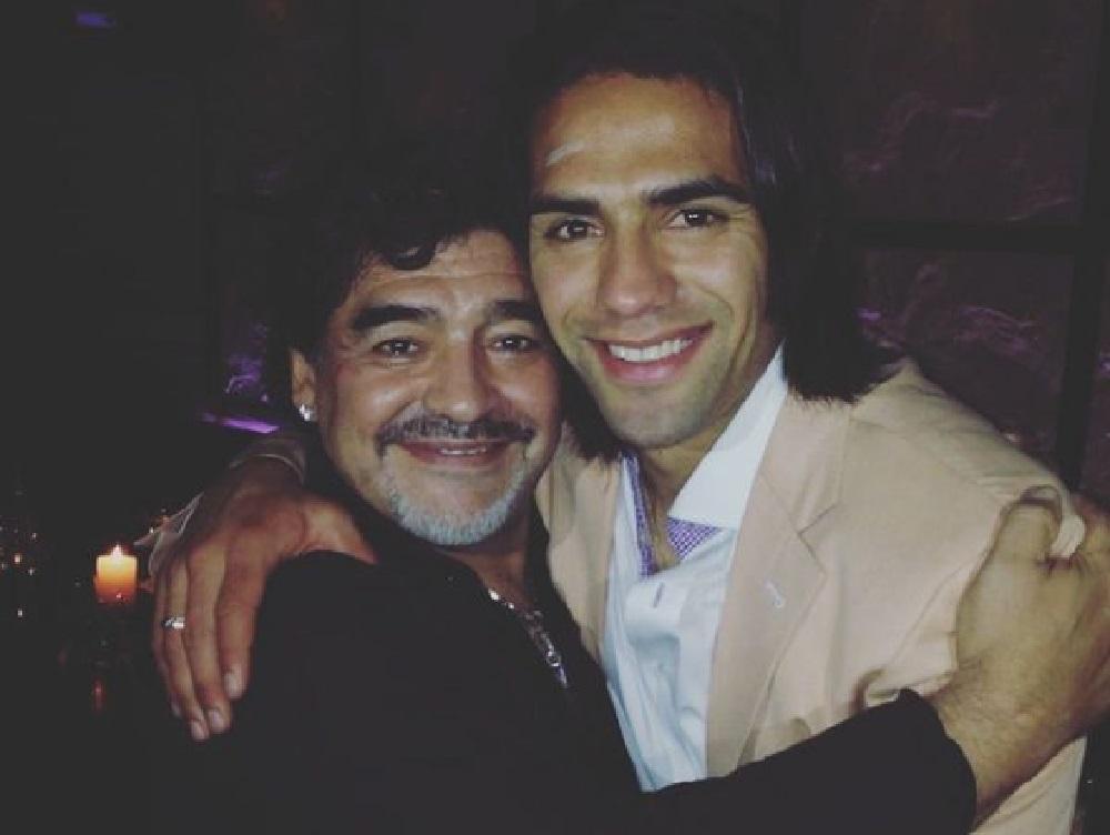 Radamel Falcao recordó que Maradona fue su ídolo desde niño / Tomada de la cuenta de Instagram de Radamel Falcao.