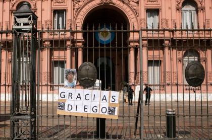 Diego Armando Maradona estará en cámara ardiente en la Casa Rosada, en Buenos Aires.