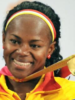 Medalla olímpica para Ubaldina Valoyes 8 años después. Imagen de referencia de la deportista.