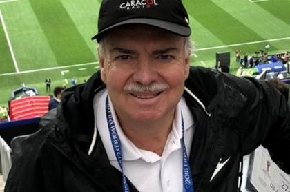 El retirado periodista deportivo Iván Mejía Álvarez, en el Mundial de Rusia 2018.