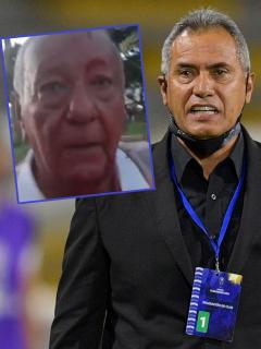Hernán Torres y su papá, que fue agredido por un limpiavidrios en Ibagué
