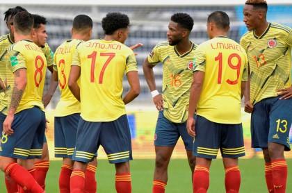 Colombia sale del 'top 10' del escalafón de selecciones de la Fifa. Imagen de referencia del combinado 'cafetero'.