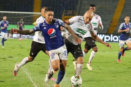 Los dirigidos por Alberto Gamero golearon a Once Caldas en el primer partido de la liguilla de eliminados.
