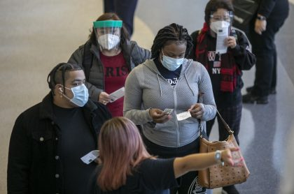 Los Ángles, Estados Unidos, durante la pandemia del coronavirus.