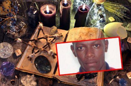 Fotomontaje que ilustra la brujería a la que acudía el criminal Jhon Freddy Orejuela.