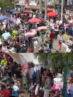 Compradores llegan al sector de San Victorino para hacer sus compras de 'Black Friday'.