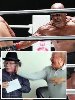 Mike Tyson y Roy Jones Jr. en su pelea del domingo 29 de noviembre de 2020, de la cual salieron varios memes.