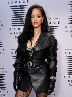 Foto de Rihanna, quien está saliendo con el rapero ASAP Rocky