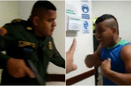 Imágenes de la pelea en la que estuvieron involucrados policías en un hospital de Sucre.