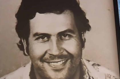 Fotografía de Pablo Escobar detenido en Medellín
