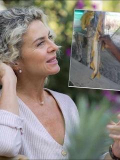 Margarita Rosa de Francisco, en foto de 2019, que publicó fotos de peces afectados por Hidroituango en el río Cauca