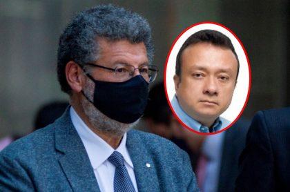 Jaime Granados, abogado de Eduardo Pulgar que pedirá se revise su salud para que él no vaya a la cárcel, y el senador Pulgar.