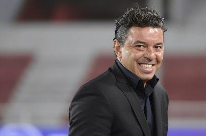 Marcelo Gallardo, quien no llegará a la Selección Colombia, durante un partido de River Plate.