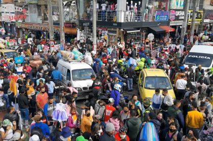 Imagen de referencia de las aglomeraciones en el centro de Bogotá.