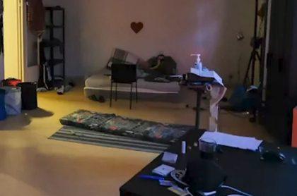 El apartamento donde se llevó a cabo la orgia de 25 hombres en Bruselas, Bélgica.