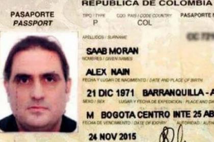 Pasaporte de Álex Saab, quien pasará a arresto domiciliario en Cabo Verde.