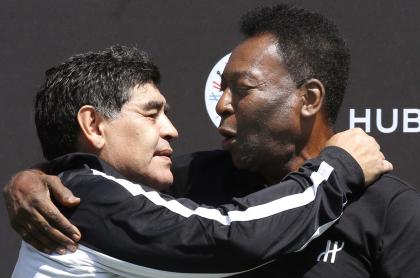 """""""Te amo, Diego"""": conmovedor mensaje de Pelé a Maradona. Imagen de referencia de ambos."""