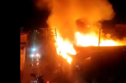 Incendio en Fontibón en la madrugada de este jueves