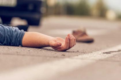 Foto ilustrativa de un muerto que encontraron en carro gama alta, en Cali.