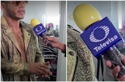 Video: periodista protege micrófono de coronavirus con un condón