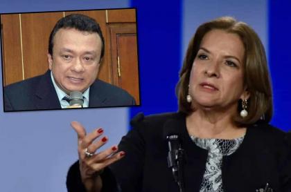 Eduardo Pulgar y Margarita Cabello, futura procuradora en Colombia.