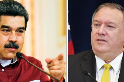 Nicolás Maduro y Mike Pompeo