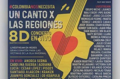 Ver en vivo el concierto 'Un canto x las regiones'
