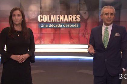 María Elena Romero y Juan Eduardo Jaramillo, presentador especial sobre el caso Colmenares, que se metió al top 10 del 'rating' de RCN y Caracol.