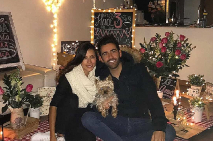 Foto de Manuela Cardona y Alejandro González, quienes se casaron