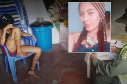 Imagen de Mileydis Aldana Herazo, asesinada en Sucre, cuando fue capturada por maltrato animal