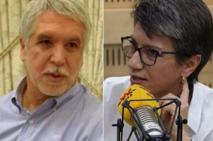 Imágenes de Enrique Peñalosa y de Claudia López, que siguen peleado por Transmilenio.