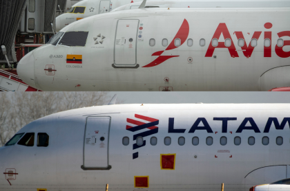 Latam y Avianca, aerolíneas que, por medio de una tutela, quisieron erradicar la exigencia de pruebas PRC para vuelos.