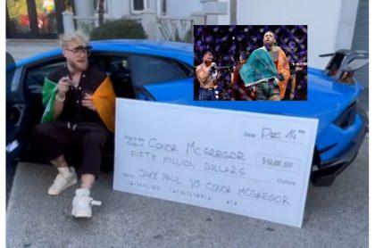 Por 50 millones de dólares. Jake Paul desea pelear con Conor McGregor.