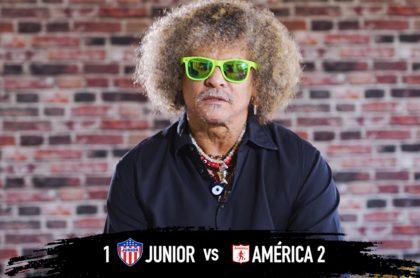 Críticas de El Pibe Valderrama al VAR y a Teófilo Gutiérrez en el partido entre América y Junior, por la Liga BetPlay.