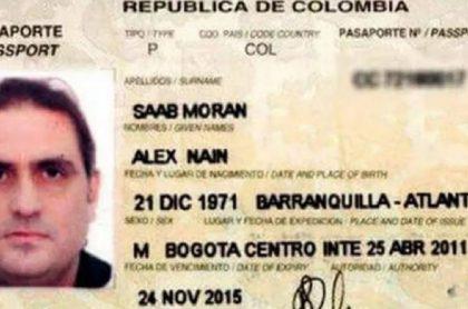 Pasaporte de Álex Saab, que seguirá en prisión en Cabo Verde.