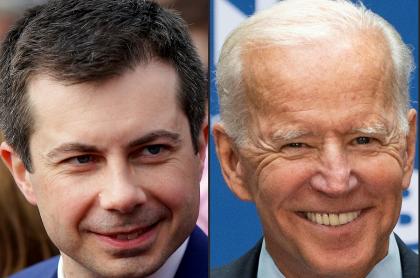 Pete Buttigieg y Joe Biden